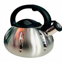Чайник Rainberg RB-627 для газовых и электрических плит 3 л Стальной