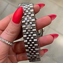 Часы мужские наручные механические с автоподзаводом Rolex Datejust Automatic Silver-Black реплика ААА класса, фото 3
