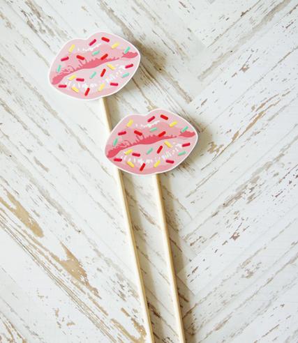 """Аксессуар-губы для фотосессии """"Sugar lips"""" (1 шт.)"""