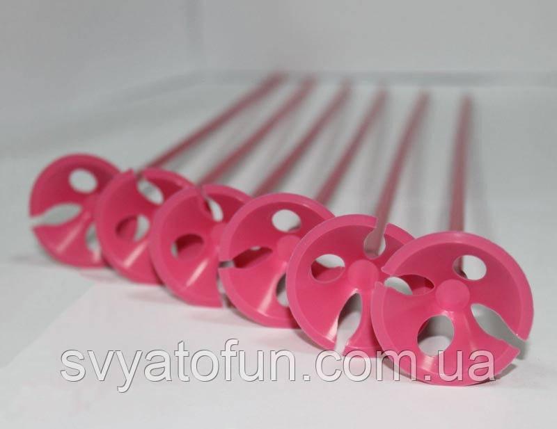 Палички з насадками рожеві 100шт/уп