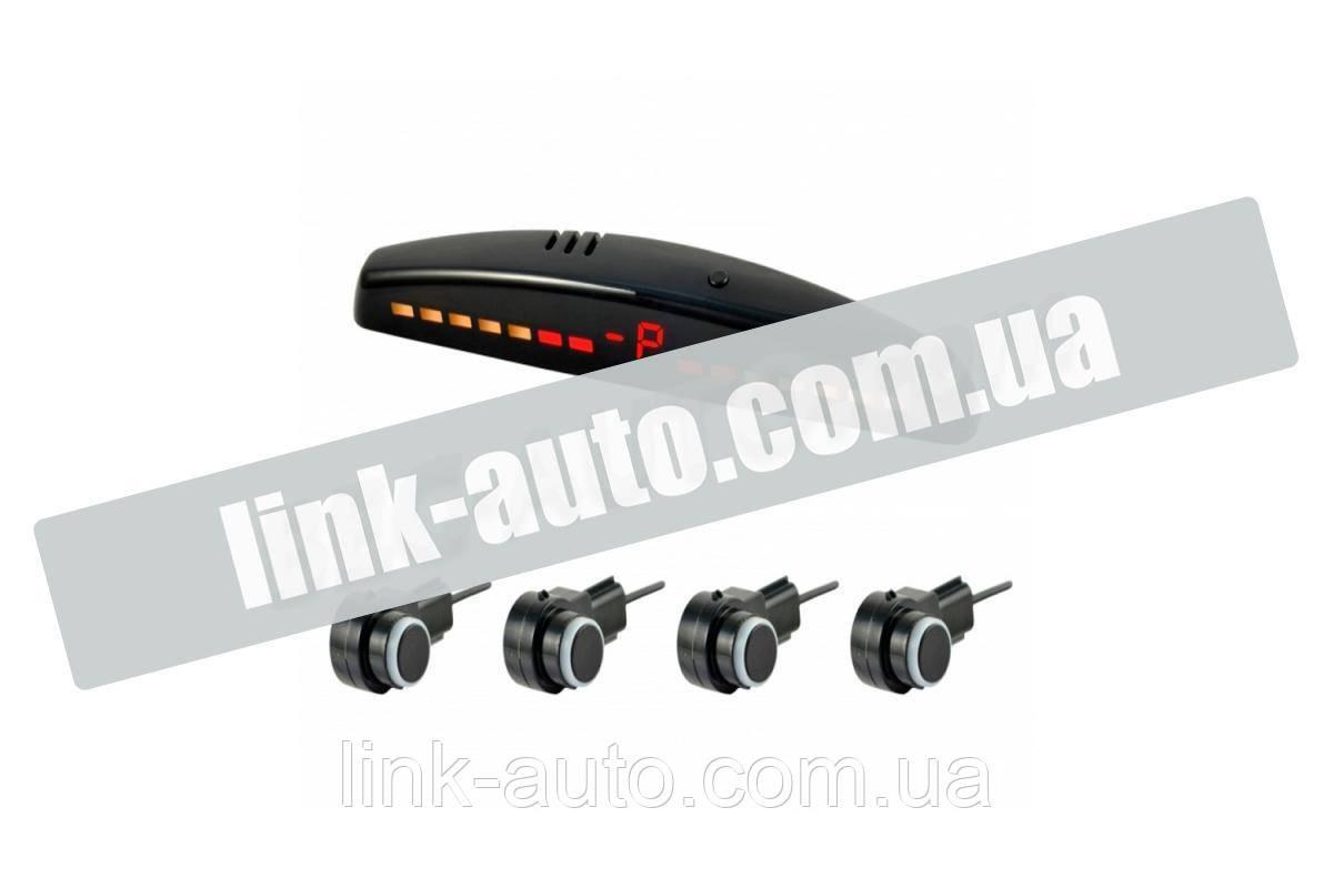 Парктроник 4 датчика 16,5 мм Cyclone LV-4WS LED дисплей-шкала/звук. сигнал/черный/под штатный датчик
