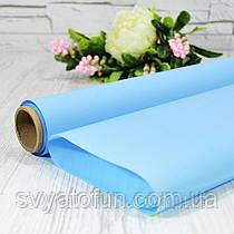 Калька матовая 004 небесно-голубая