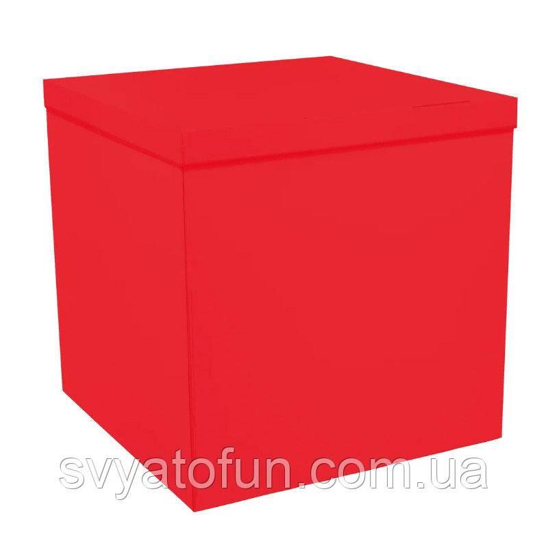 Коробка-сюрприз для повітряних куль червона без написів