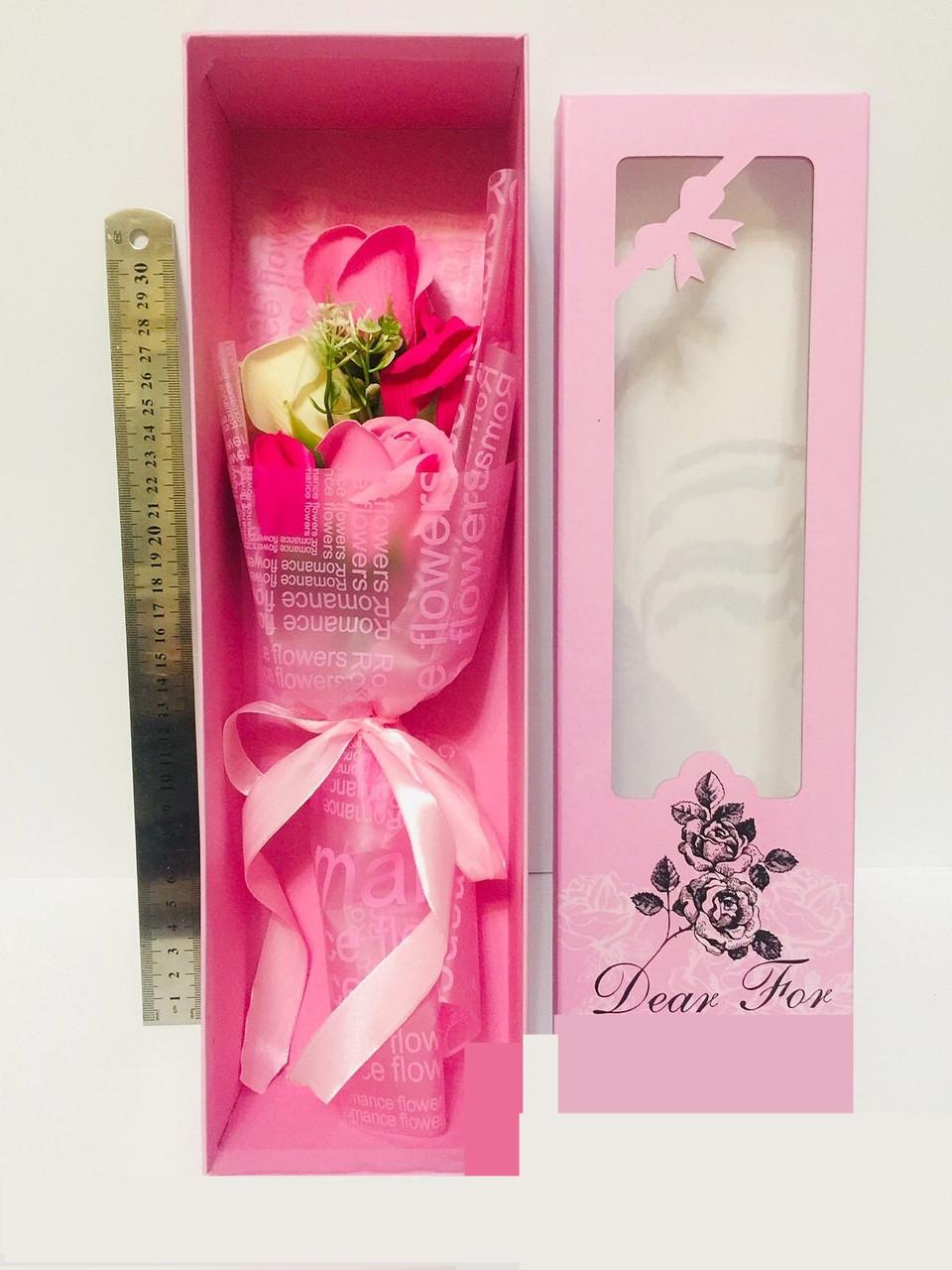 Роза мыло букет