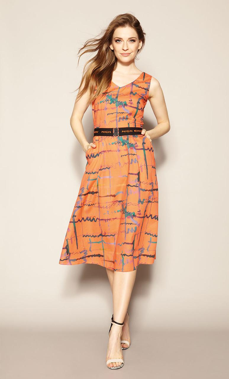 Летнее платье Hitomi Zaps оранжевого цвета.