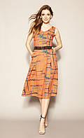 Летнее платье Hitomi Zaps оранжевого цвета., фото 1