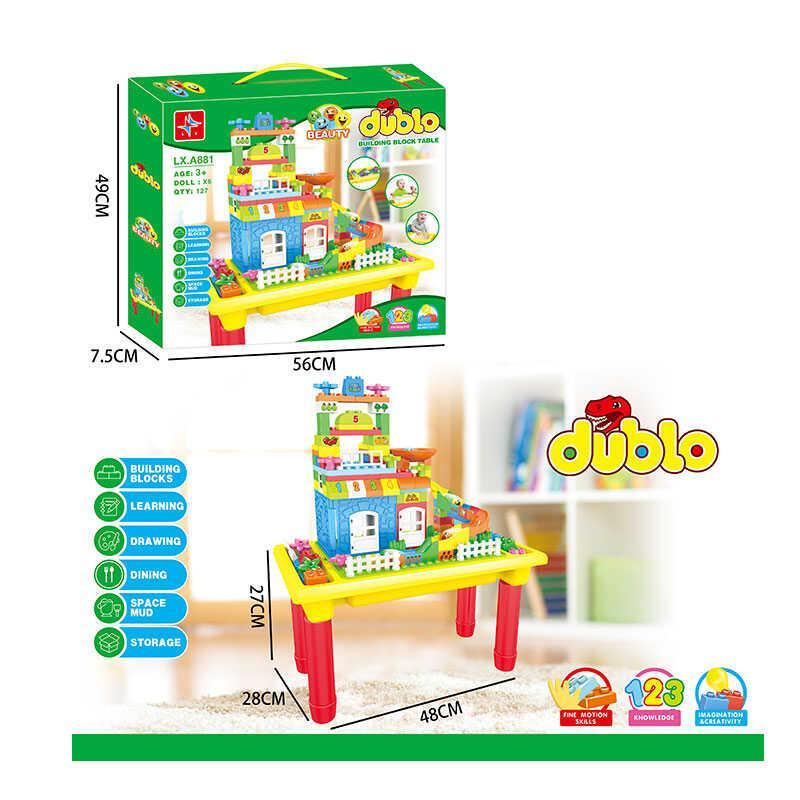 Дитячий ігровий столик і стільчик PP-002B зелено-жовто-синій