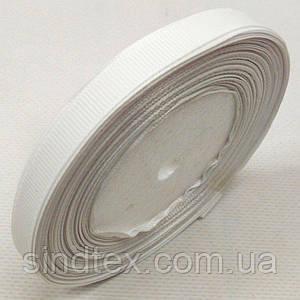 Лента репсовая 1 см. (10мм) белая (СИНДТЕКС-0795)