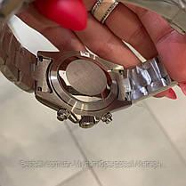 Часы мужские наручные механические с автоподзаводом Rolex Daytona Metal Silver-Black-White реплика ААА класса, фото 2