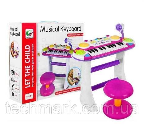 Дитячий синтезатор-піаніно на знімних ніжках зі стільчиком і мікрофоном (BB 335 D)