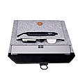 Чехол-конверт из фетра для Macbook Air/Pro 13,3'' - черно-серый, фото 2
