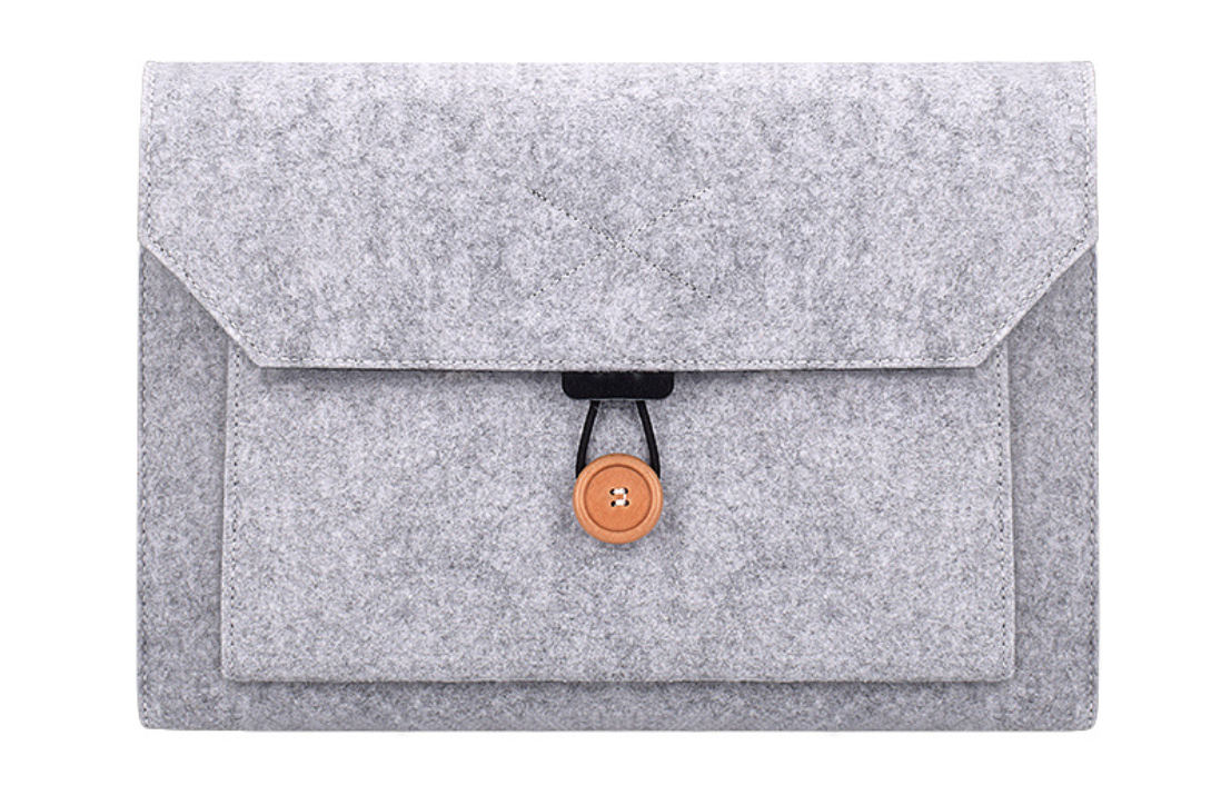Чехол-конверт из фетра для Macbook Air/Pro 13,3'' - черно-серый