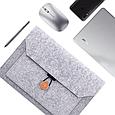 Чехол-конверт из фетра для Macbook Air/Pro 13,3'' - черно-серый, фото 5