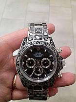 Часы мужские наручные механические с автоподзаводом Rolex Daytona Daytona Skull Engraved реплика ААА класса, фото 2