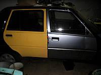 Дверь правая Славута 1105-6200026-01. Задняя правая дверь ЗАЗ-1103. Двери Б/У на ЗАЗ-1105 желтого цвета, фото 1