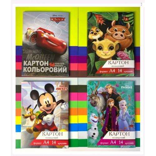 Картон цветной ТЕТРАДА 14арк (14 Когда) А4 Disney (1/20)