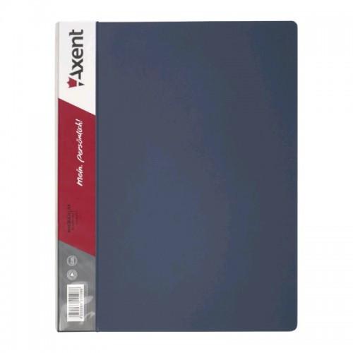 Папка-скоросшиватель AXENT 1304-03 А4 пластик. плотная серая (1/60)