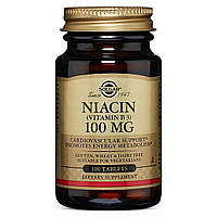 Ниацин (В3), Solgar, 100 мг, 100 таблеток
