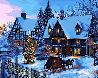 Новогодние сюжеты, зимняя сказка - картины по номерам