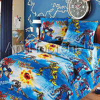 Детское постельное белье в кроватку Трансформеры, бязь ГОСТ 100%хлопок