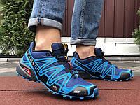 Мужские кроссовки Salomon Speedcross 3 blue, фото 1