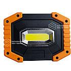 Фонарик универсальный ручной LED 20W. Комбинированный мягкий пластик., фото 4