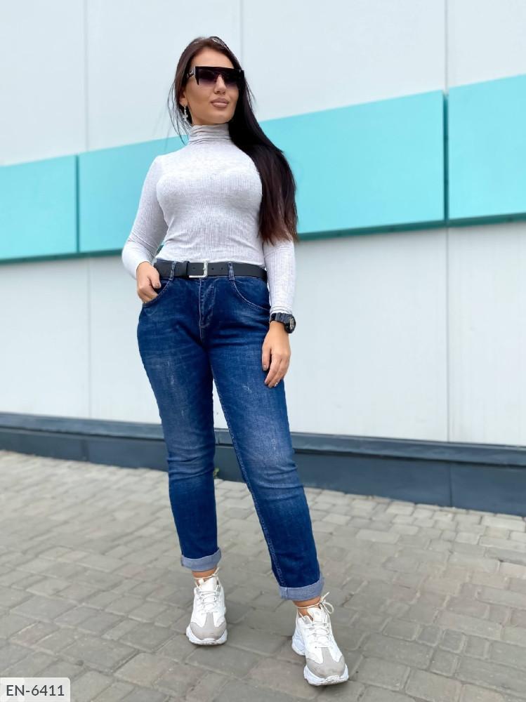 Женские стильные джинсы в больших размерах (DG-ат 0659)