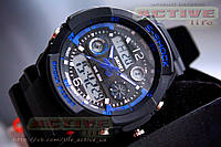 Мужские спортивные часы  S-Shock Skmei / 0931/( blue) + ВІДЕО, фото 1