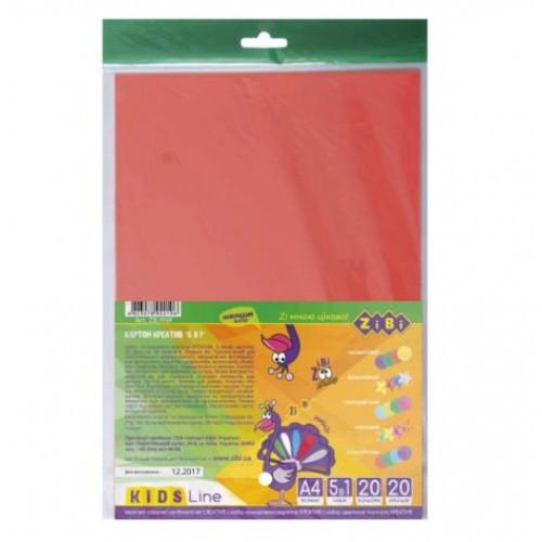 Набор цветного картона Zibi 1969 А4 КРЕАТИВ 20арк. (1/100)