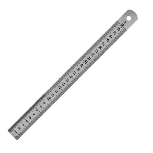 Линейка AXENT 7730 стальная 30см (1/12)
