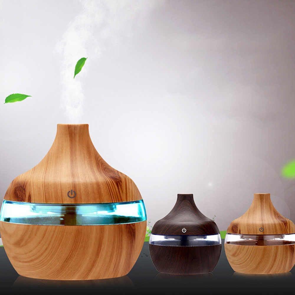 Увлажнитель воздуха ультразвуковой с LED подсветкой Smokee ONE, функция ароматерапии, 7 Дерево