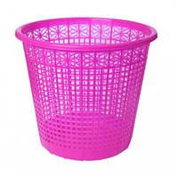 Корзина для бумаг ZiBi 3040-10 пластик. круглая 8л РОЗОВАЯ (1)