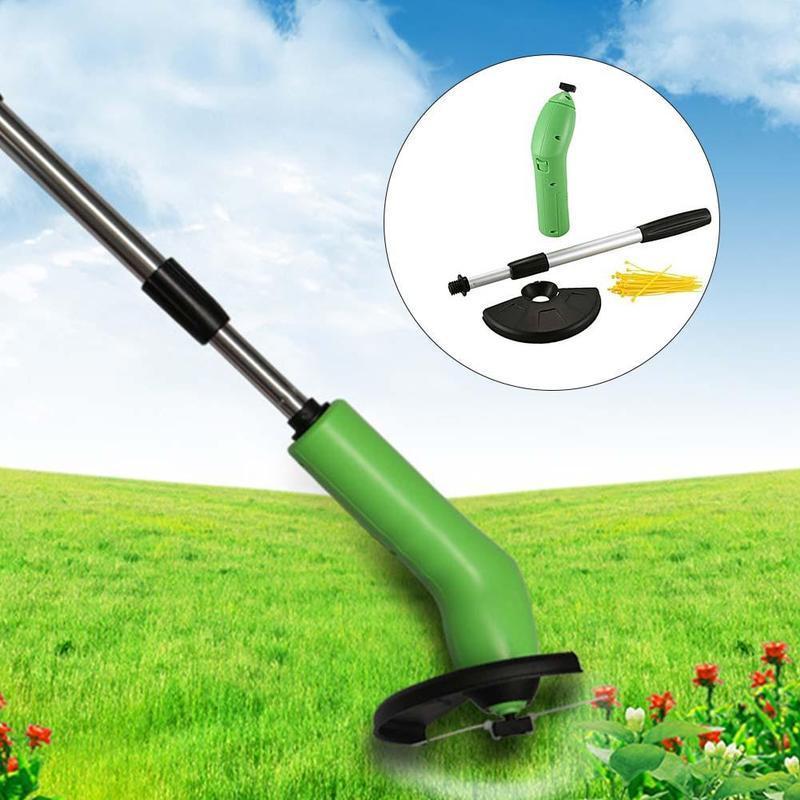 Ручная портативная газонокосилка Grass trimmer PRO, набор из 30 лесок в подарок, телескопическая ручка