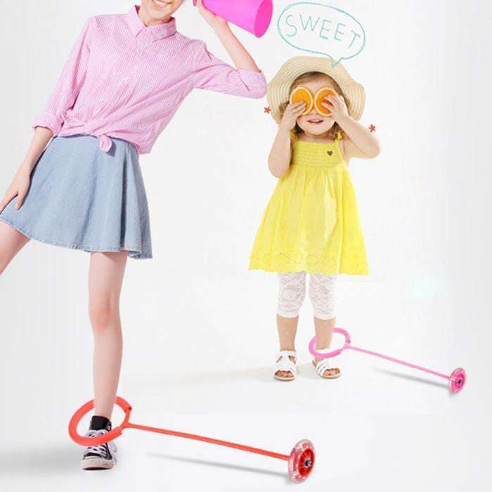 Детская скакалка с подсветкой на одну ногу, разные цвета, длина 65 см
