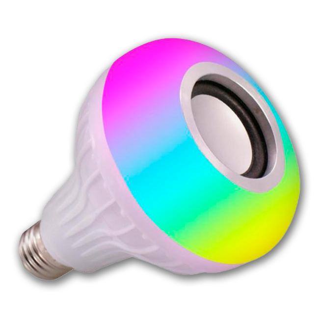Bluetooth лампочка с динамиком и пультом ДУ  Buble Lamp (лампа колонка Е27)