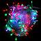 Разноцветная светодиодная гирлянда 100 LED 10 метров XMAS, прозрачный провод, подключение 220 В, фото 2