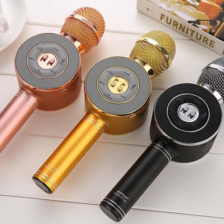 Беспроводной караоке микрофон с колонкой WSTER WS 668 Bluetooth