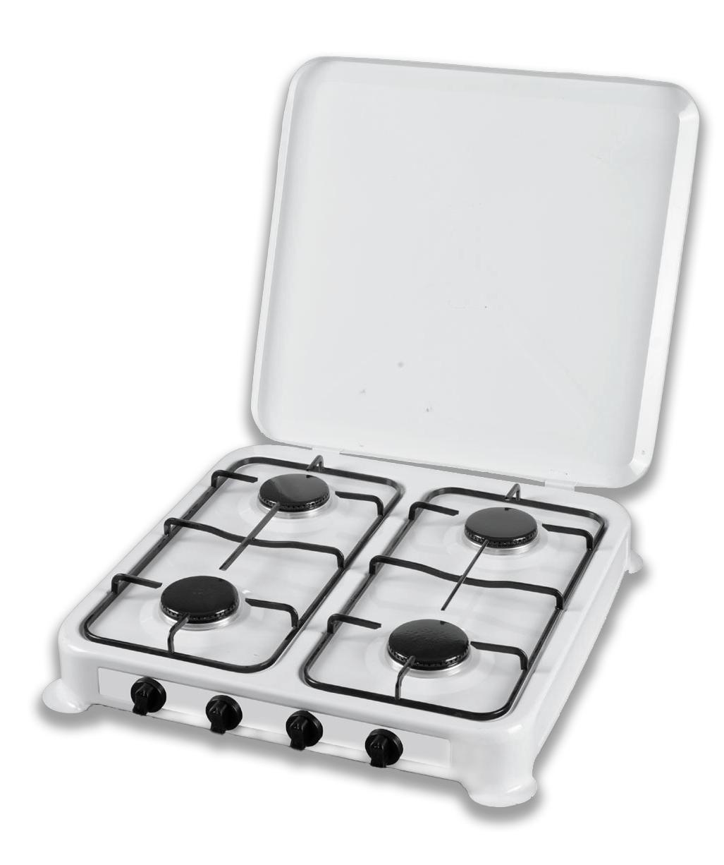 Настольная газовая плита таганок Domotec на 4 конфорки, MS 6604