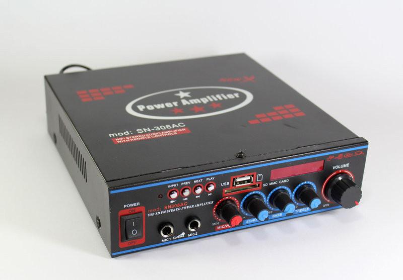Усилитель звука с bluetooth UKC SN308AC 2 канала