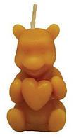 Силиконовая форма Медведь с сердцом (5см)