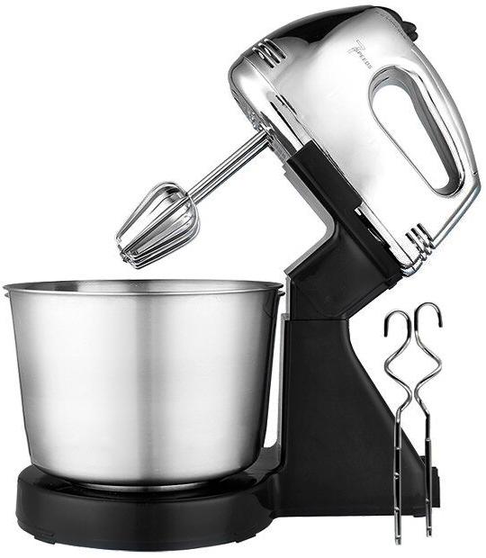 Ручной миксер 7 скоростей CROWNBERG CB7321 PRO STEEL, металлическая чаша