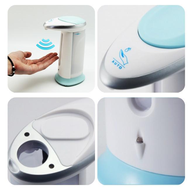 Сенсорный дозатор для мыла Soap Magic, мыльница на батарейках сенсорная, белая