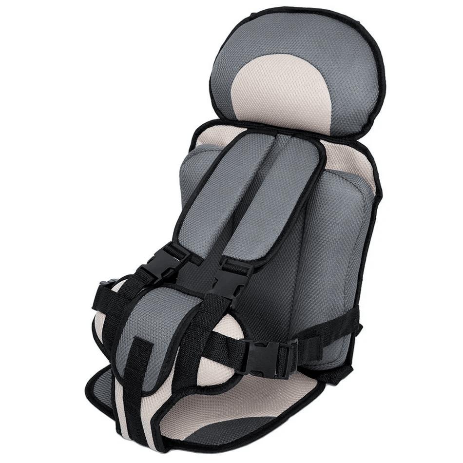 Детское бескаркасное авто кресло Travel child Pro, с боковыми поддержками, серый