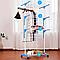 Стойка сушилка для одежды Garment rack with wheels складная 3 яруса, металл, 172см высота, фото 2