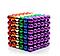 Магнитный Неокуб Радуга NEOCUBE 6 colors, цветной, 216 магнитных шариков 5 мм, фото 2