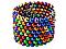 Магнитный Неокуб Радуга NEOCUBE 6 colors, цветной, 216 магнитных шариков 5 мм, фото 4