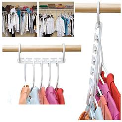 Универсальная складная вешалка для одежды Wonder Hanger, органайзер в шкаф 8шт в наборе, белый