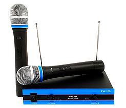 Беспроводной комплект из 2-х микрофонов Wireless DM EW-100 радиосистема