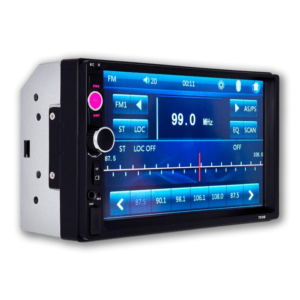 Автомагнитола 2Din сенсорная, Bluetooth AMP 7010B Slim, пульт в комплекте