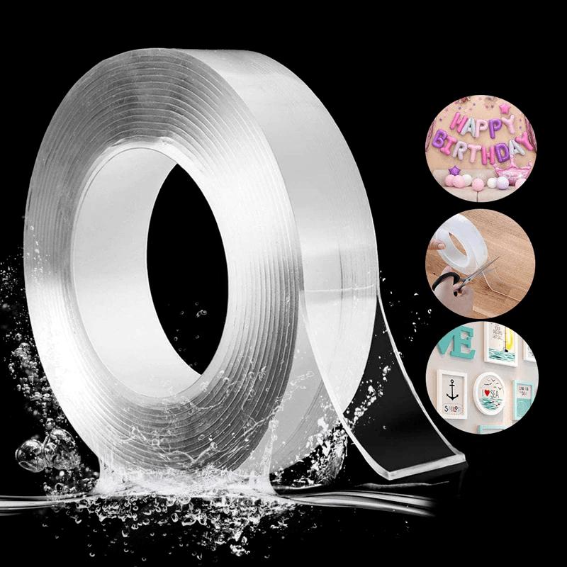 Многоразовая двусторонняя нано лента 3м длина IVY grip tape, 20 мм ширина, суперстойкая, влагоотталкивающая